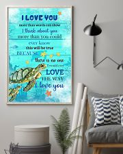 Turtle I love You Poster 11x17 Poster lifestyle-poster-1