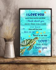 Turtle I love You Poster 11x17 Poster lifestyle-poster-3
