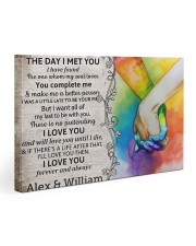 Custom LGBTQ The Day I Met You  30x20 Gallery Wrapped Canvas Prints thumbnail