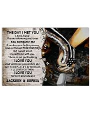 Personalized Veteran The Day I Met You 17x11 Poster front
