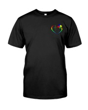 Autism - Love Need No Words 2 Sides Classic T-Shirt front