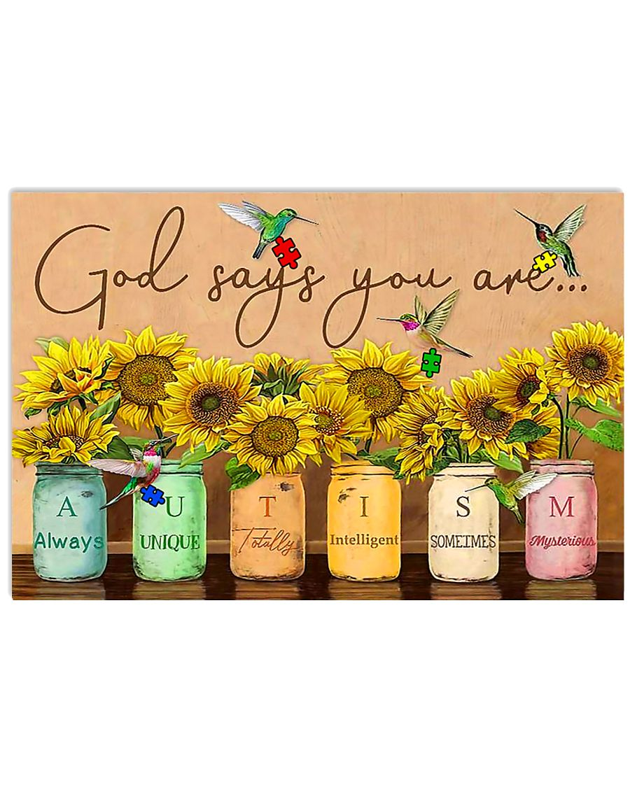 Autism God Say You Are Poster  17x11 Poster