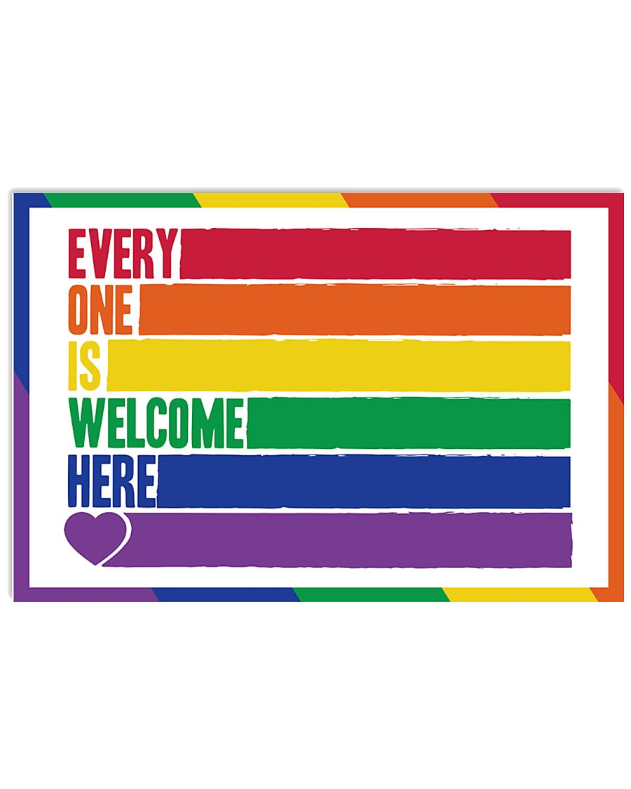 LGBT - Everyone Is Welcome Here Poster 17x11 Poster