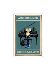 She Lived Happily Ever - Piano Sticker tile