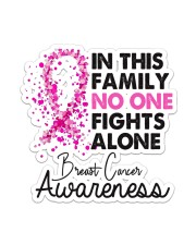 Breast Cancer - In This Family Sticker - Single (Vertical) front