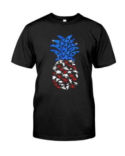 Turtle Red White Blue