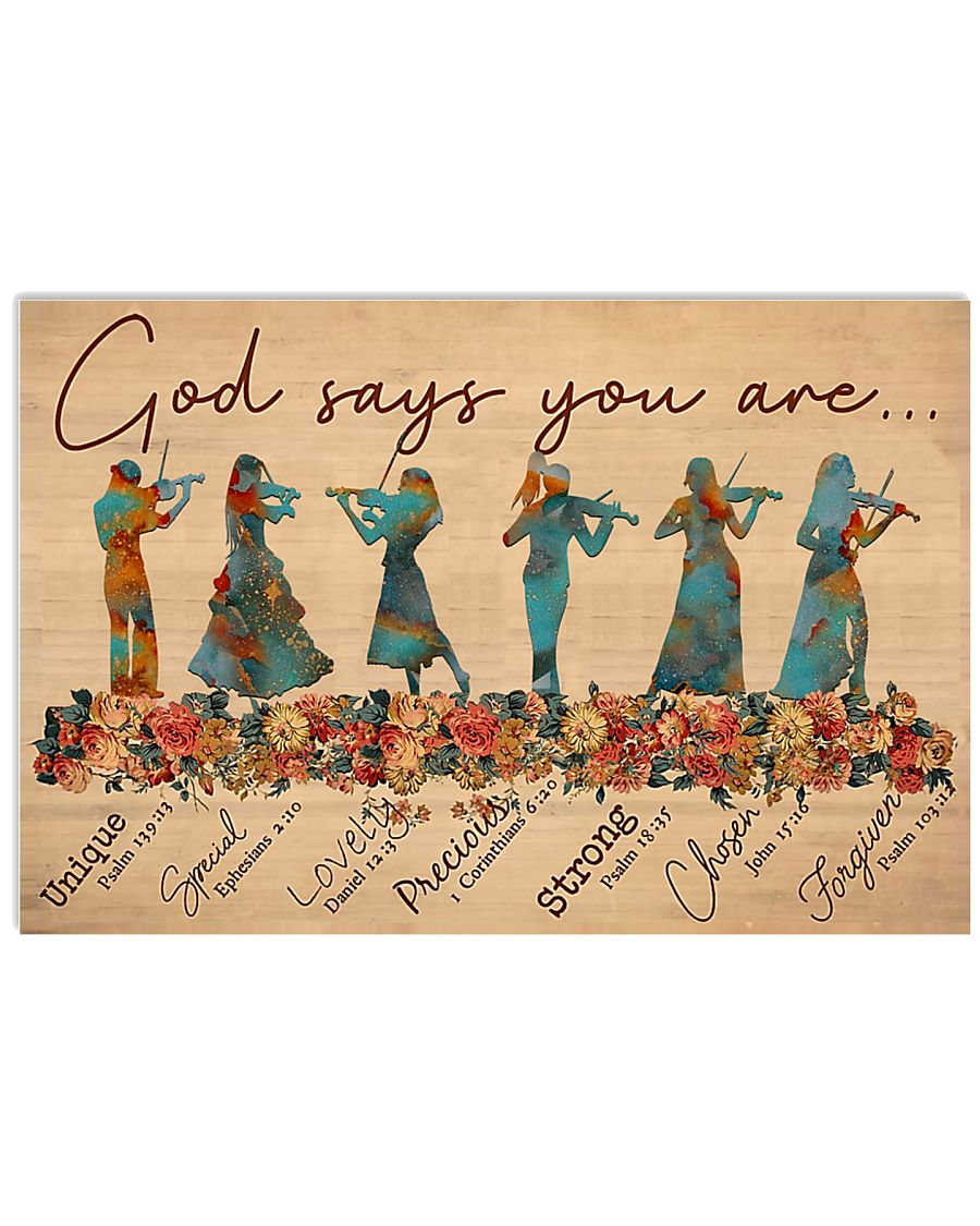 Violin - God Says You Are 17x11 Poster