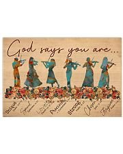 Violin - God Says You Are 17x11 Poster front
