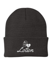 Black Lotion Cap Knit Beanie tile