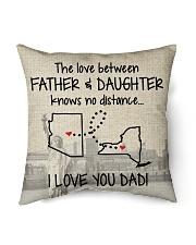 "LOVE BETWEEN FATHER AND DAUGHTER NEW YORK ARIZONA Indoor Pillow - 16"" x 16"" thumbnail"