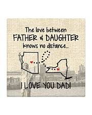 LOVE BETWEEN FATHER AND DAUGHTER NEW YORK ARIZONA Square Coaster front