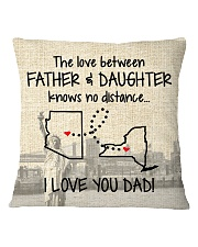 LOVE BETWEEN FATHER AND DAUGHTER NEW YORK ARIZONA Square Pillowcase thumbnail