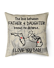 """LOVE BETWEEN FATHER AND DAUGHTER MICHIGAN FLORIDA Indoor Pillow - 16"""" x 16"""" back"""