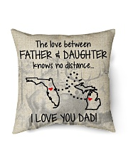 """LOVE BETWEEN FATHER AND DAUGHTER MICHIGAN FLORIDA Indoor Pillow - 16"""" x 16"""" front"""