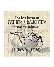LOVE BETWEEN FATHER AND DAUGHTER MICHIGAN FLORIDA Square Coaster thumbnail