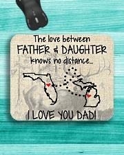 LOVE BETWEEN FATHER AND DAUGHTER MICHIGAN FLORIDA Mousepad aos-mousepad-front-lifestyle-5