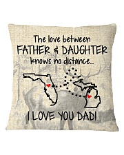 LOVE BETWEEN FATHER AND DAUGHTER MICHIGAN FLORIDA Square Pillowcase thumbnail