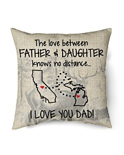 "LOVE BETWEEN FATHER AND DAUGHTER MICHIGAN CALI Indoor Pillow - 16"" x 16"" back"