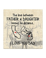 LOVE BETWEEN FATHER AND DAUGHTER MICHIGAN CALI Square Coaster thumbnail