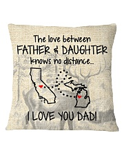 LOVE BETWEEN FATHER AND DAUGHTER MICHIGAN CALI Square Pillowcase thumbnail