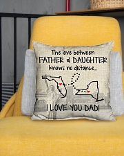 "LOVE BETWEEN FATHER AND DAUGHTER NEW YORK FLORIDA Indoor Pillow - 16"" x 16"" aos-decorative-pillow-lifestyle-front-01"
