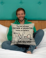 "LOVE BETWEEN FATHER AND DAUGHTER NEW YORK FLORIDA Indoor Pillow - 16"" x 16"" aos-decorative-pillow-lifestyle-front-12"