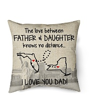 "LOVE BETWEEN FATHER AND DAUGHTER NEW YORK FLORIDA Indoor Pillow - 16"" x 16"" back"