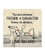 LOVE BETWEEN FATHER AND DAUGHTER NEW YORK FLORIDA Square Coaster thumbnail