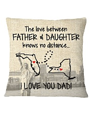 LOVE BETWEEN FATHER AND DAUGHTER NEW YORK FLORIDA Square Pillowcase thumbnail