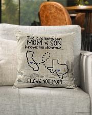 "MOM AND SON TEXAS CALIFORNIA Indoor Pillow - 16"" x 16"" aos-decorative-pillow-lifestyle-front-04"