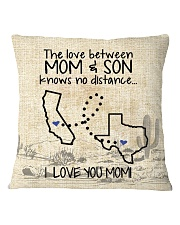 MOM AND SON TEXAS CALIFORNIA Square Pillowcase tile
