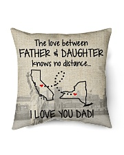 """LOVE BETWEEN FATHER AND DAUGHTER NEW YORK CALI  Indoor Pillow - 16"""" x 16"""" back"""