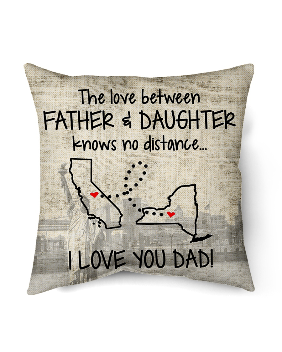 """LOVE BETWEEN FATHER AND DAUGHTER NEW YORK CALI  Indoor Pillow - 16"""" x 16"""""""