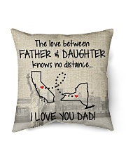 """LOVE BETWEEN FATHER AND DAUGHTER NEW YORK CALI  Indoor Pillow - 16"""" x 16"""" front"""