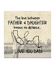 LOVE BETWEEN FATHER AND DAUGHTER NEW YORK CALI  Square Coaster thumbnail