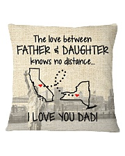 LOVE BETWEEN FATHER AND DAUGHTER NEW YORK CALI  Square Pillowcase thumbnail