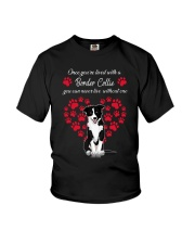 Border Collie Live With Border Collie 030318 Youth T-Shirt thumbnail