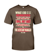 T SHIRT FIRE ASSISTANT MANAGER Classic T-Shirt front