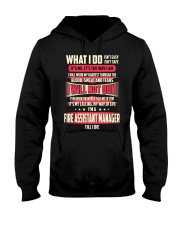 T SHIRT FIRE ASSISTANT MANAGER Hooded Sweatshirt thumbnail