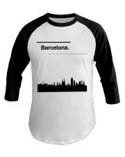 Barcelona Skyline Baseball Tee thumbnail