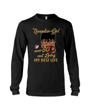 November Girl Over 50 And Living My Best Life Long Sleeve Tee thumbnail
