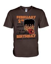 February 2nd V-Neck T-Shirt thumbnail
