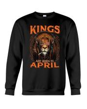 Kings Are Born In April Crewneck Sweatshirt thumbnail