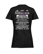 RUNNING MOM Ladies T-Shirt women-premium-crewneck-shirt-back