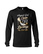 August Girl Over 50 And Living My Best Life Long Sleeve Tee thumbnail