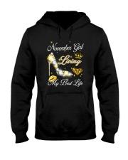 November Girl Living My Best Life Hooded Sweatshirt thumbnail