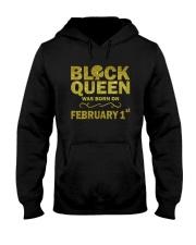 Black Queen Was Born On February 1 Hooded Sweatshirt thumbnail