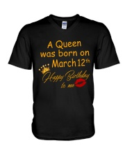 March 12th V-Neck T-Shirt thumbnail