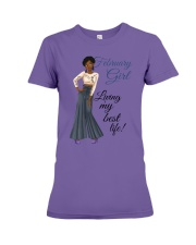 February Girl Living My Best Life Premium Fit Ladies Tee thumbnail