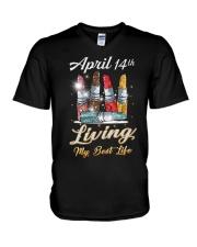 April 14th V-Neck T-Shirt thumbnail